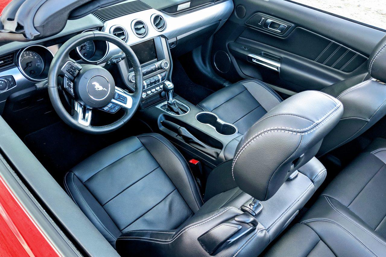 2019 Mustang GT premium interior black leather