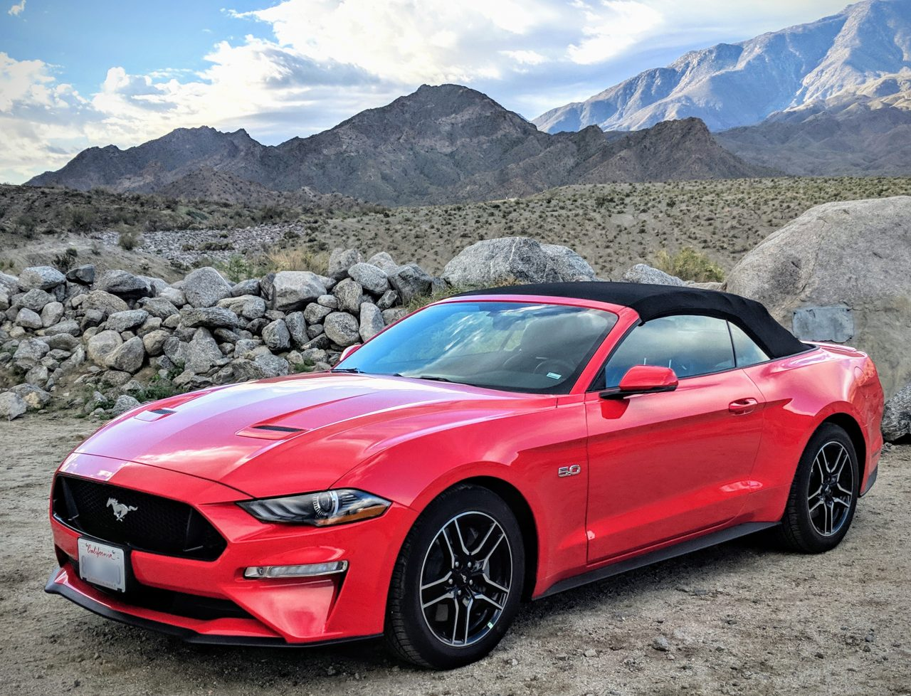 2019 Mustang GT convertible red